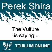 Perek Shira : The Vulture is saying