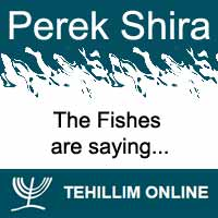 Perek Shira : The Fishes are saying