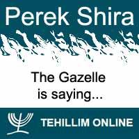 Perek Shira : The Gazelle is saying