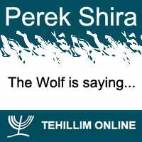 Perek Shira : The Wolf is saying
