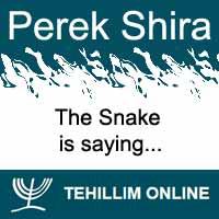 Perek Shira : The Snake is saying