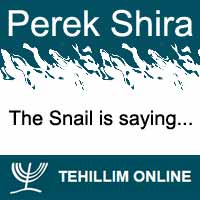 Perek Shira : The Snail is saying