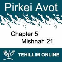 Pirkei Avot - Mishnah 21 - Chapter 5